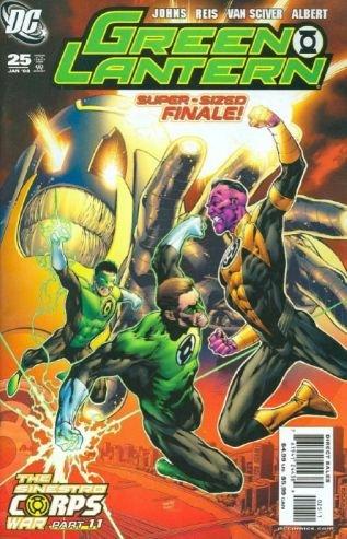 GREEN LANTERN #25 SUPERSIZE FINAL SINESTRO WARS NM (2008)