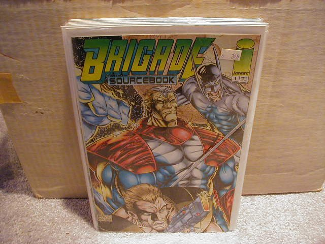 BRIGADE: SOURCE BOOK #1 VF OR BETTER