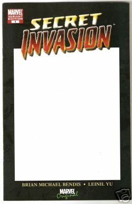 SECRET INVASION #1 NM (2008) BLANK CONVENTION COVER VARIANT 1ST PRINT