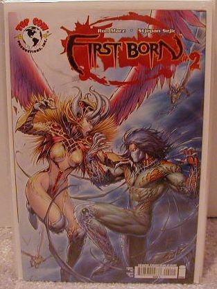 """FIRST BORN #2 """"B"""" COVER NM WITCHBLADE/DARKNESS"""