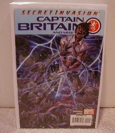 CAPTAIN BRITAIN AND MI13  #2 NM (2008) SECRET INVASION