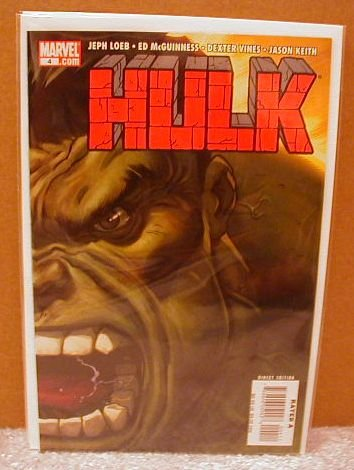HULK #4  NM(2008) RED HULK VS GREEN HULK- SO WHO�S THE STRONGEST ONE THERE IS??  �GREEN� COVER