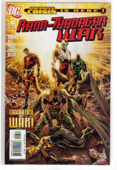 RANN-THANAGAR WAR #6 NM (2003) HAWKWOMAN,GREEN LANTERN,ADAM STRANGE, CAPTAIN COMET