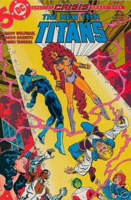 NEW TEEN TITANS #14 VF/NM (1984) CRISIS ON INFINITE EARTH CROSS OVER