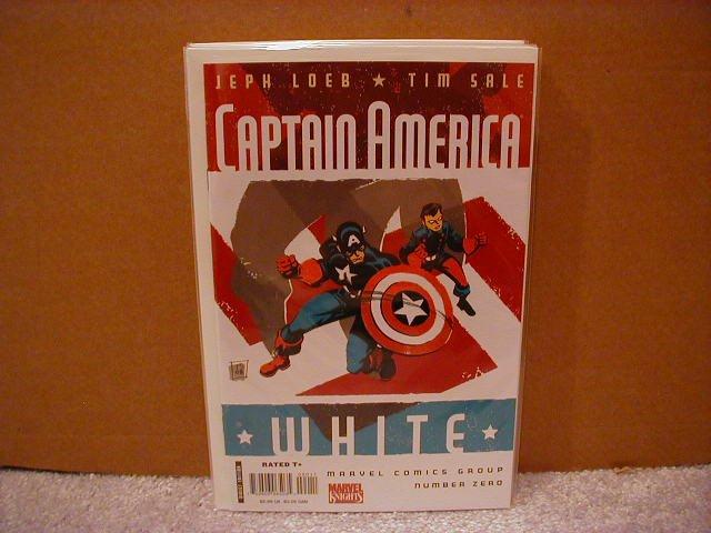 CAPTAIN AMERICA WHITE #0 NM (2008) *TIM SALE* * JEPH LOEB*