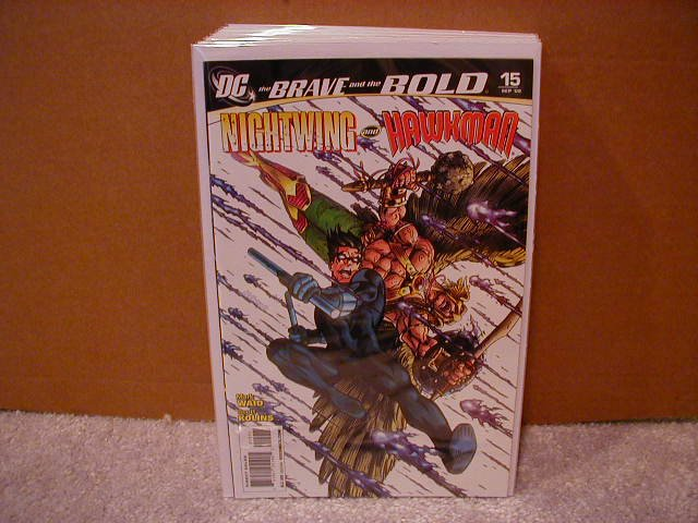 BRAVE AND THE BOLD #15 NM (2008) NIGHTWING  & HAWKMAN