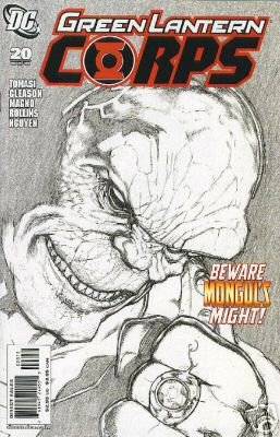 GREEN LANTERN CORPS #20 NM (2008) MONGUL GETS THE YELLOW RING  2ND PRINT SKETCH PRINT