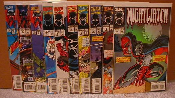 NIGHTWATCH SET 1-10 ALL VF OR BETTER