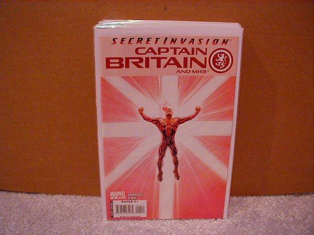 CAPTAIN BRITAIN AND MI13 #4 NM (2008) SECRET INVASION