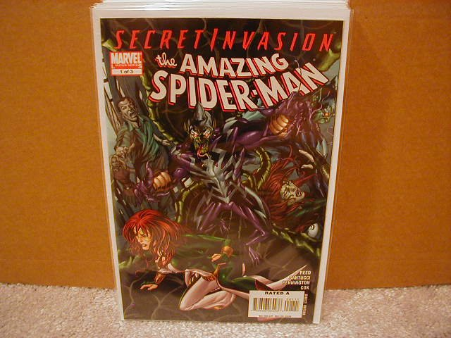 SECRET INVASION AMAZING SPIDER-MAN #1 NM (2008) *SECRET INVASION*