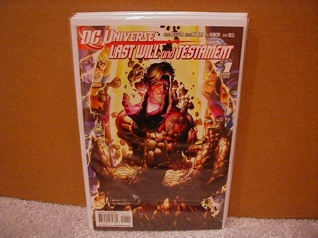 DC UNIVERSE LAST WILL AND TESTAMENT ONE-SHOT  NM (2008) �B� COVER