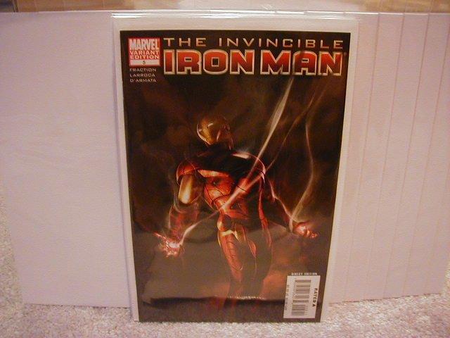"INVINCIBLE IRON MAN #5 NM (2008)""B COVER"""