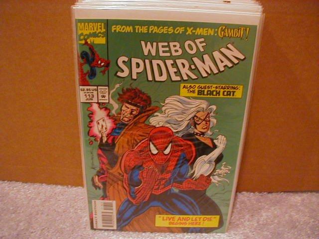 WEB OF SPIDER-MAN #113 VF- GAMBIT