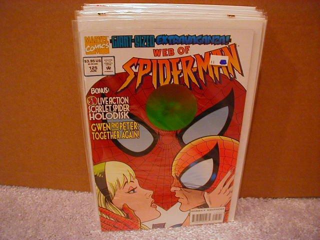 WEB OF SPIDER-MAN #125 VF/NM HOLOGRAM COVER