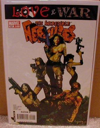 INCREDIBLE HERCULES #121 NM (2008) LOVE & WAR