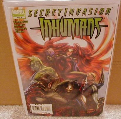 SECRET INVASION INHUMANS #3 NM (2008)
