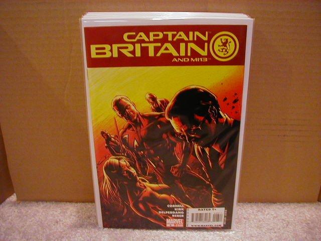 CAPTAIN BRITAIN AND MI13 #6 NM (2008)
