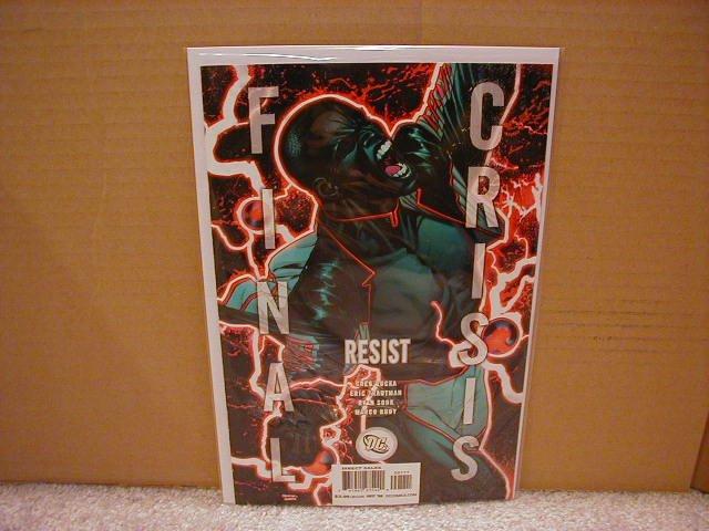 """FINAL CRISIS RESIST #1 NM (2008) """"B"""" COVER"""