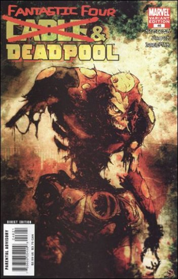 CABLE DEADPOOL #46 ZOMBIE VARIANT COVER 1ST PRINT