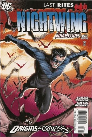 NIGHTWING #153 NM (2009) ORIGINS & OMENS *FINAL ISSUE*