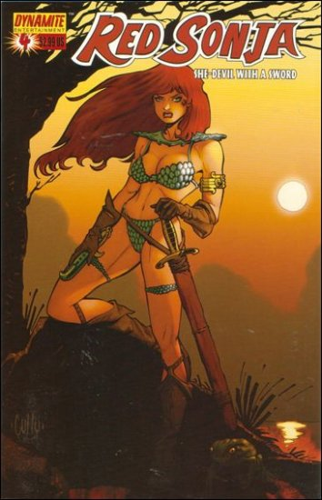 RED SONJA #4 VF/NM HAMNER COVER  * DYNAMITE*