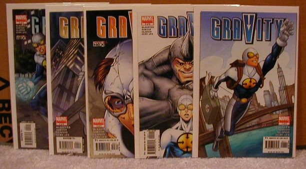 GRAVITY: 1-5 LIMITED SERIES VF/NM COMPLETE SET
