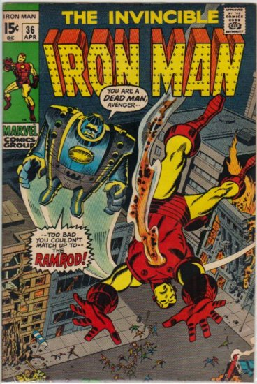 IRON MAN #36 F/VF (1968)