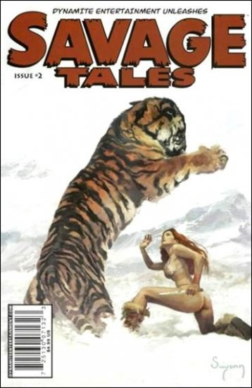 """SAVAGE TALES #2 (2008) """"C"""" COVER  **RED SONJA**"""