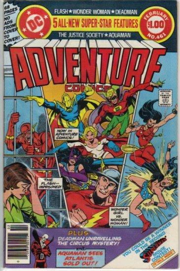 ADVENTURE COMICS #461 *JSA,AQUAMAN, FLASH, WONDER WOMAN, DEADMAN*