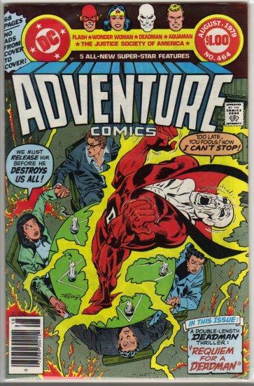 ADVENTURE COMICS #464 *JSA,AQUAMAN, FLASH, WONDER WOMAN, DEADMAN*