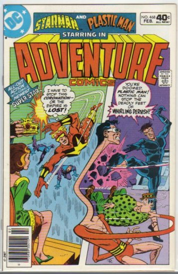 ADVENTURE COMICS #468 *STARMAN,PLASTIC MAN*