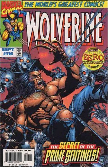 "WOLVERINE #116 VF/NM (1988) ""OPERATION ZERO TOLERANCE"""