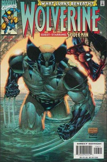 WOLVERINE #156 VF/NM (1988) *SPIDER-MAN*