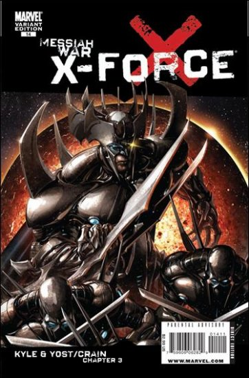 """X-FORCE #14 NM (2009) """"B COVER"""""""