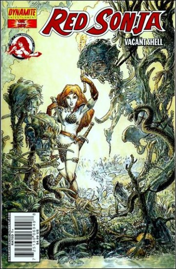 """RED SONJA VACANT SHELL ONE-SHOT-KALUTA """"C"""" COVER"""