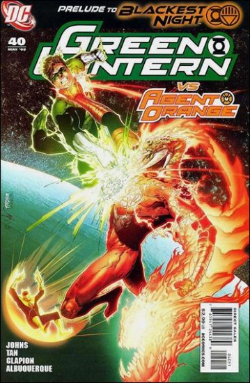 GREEN LANTERN #40 NM (2009)BLACKEST NIGHT