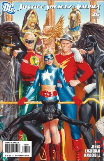 "JUSTICE SOCIETY OF AMERICA #26 NM (2009) ""B"" COVER"