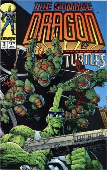 SAVAGE DRAGON VOL 2 #2 VF/NM (1993) TEENAGE MUTANT NINJA TURTLES (TMNT)