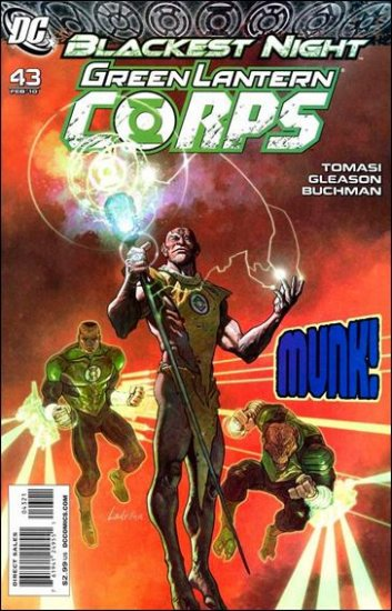 GREEN LANTERN CORPS #43  1:25 VARIANT NM *BLACKEST NIGHT*