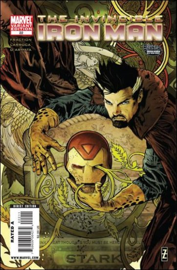 THE INVINCIBLE IRON MAN  #22 NM (2010) B COVER