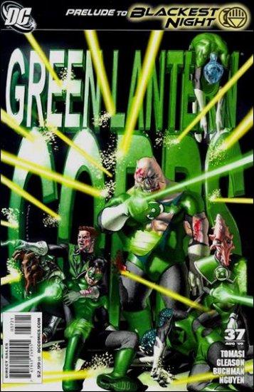 GREEN LANTERN CORPS #37  1:25 VARIANT NM *BLACKEST NIGHT*