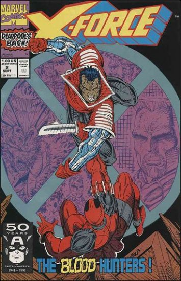 X-FORCE #2 VF/NM (1991) DEADPOOL ISSUE