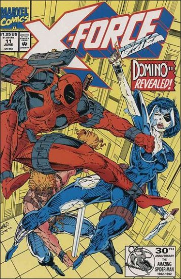 X-FORCE #11 VF/NM (1991) DEADPOOL ISSUE