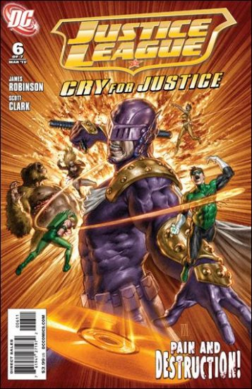 JUSTICE LEAGUE CRY FOR JUSTICE #6 NM (2010)