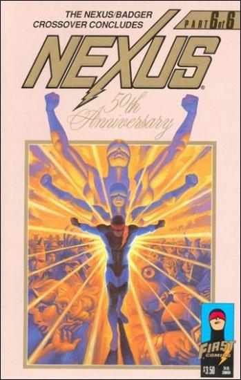 NEXUS #50 VF/NM FIRST COMICS SERIES BADGER CROSS OVER-FOIL EMBOSSED COVER