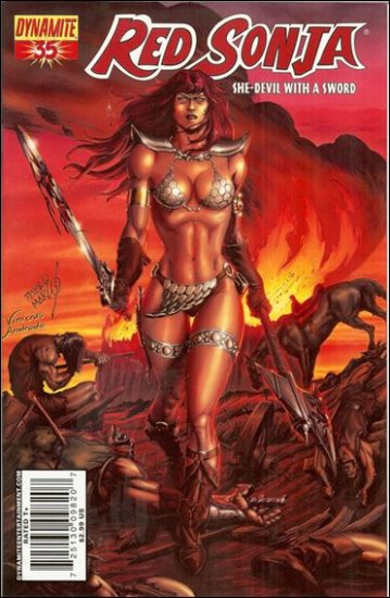 RED SONJA #35 VF/NM MARCOS COVER  *DYNAMITE*