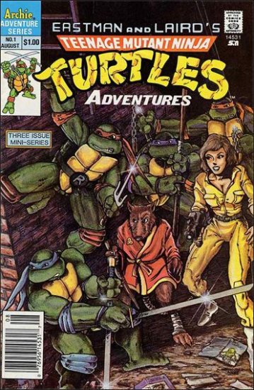 TEENAGE MUTANT NINJA TURTLES ADVENTURES VOL 1 #1 1ST PRINT *ARCHIE*