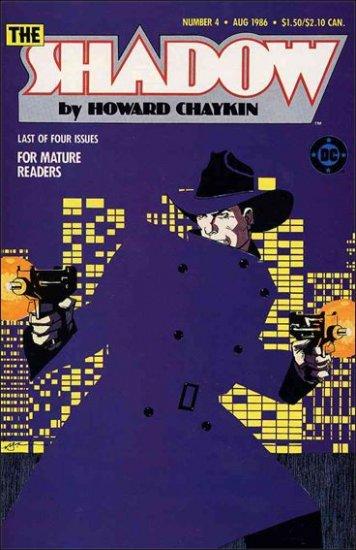 SHADOW #4 VG/FN 1986 MINI SERIES BY HOWARD CHAYKIN