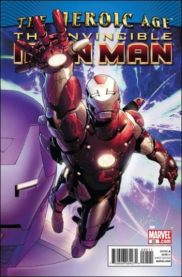 THE INVINCIBLE IRON MAN #25 NM (2010) B COVER