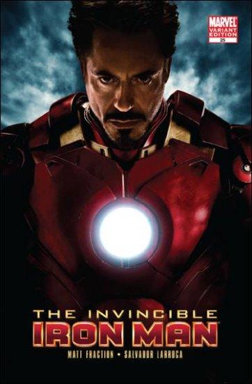 IRON MAN #25 NM (2010)1:10 IRON MAN VARIANT MOVIE COVER